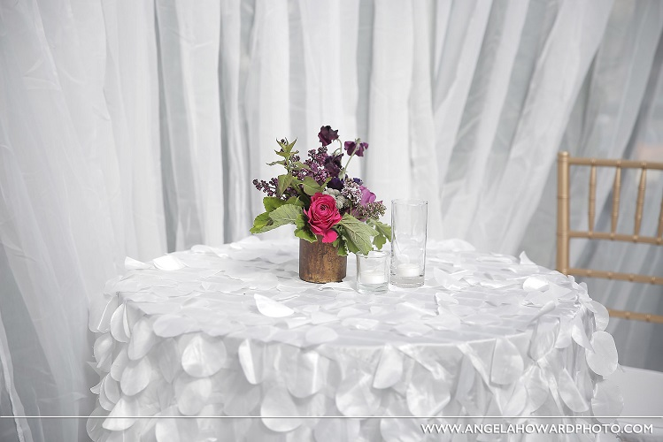 White Petal Taffeta Table Linen, White Paillette Table Linen