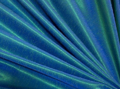 Aquamarine Dupioni Table Linen, Blue Table Cloth