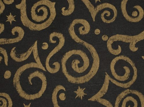 Arabesque Table Linen, Black and Gold Detailed Linen