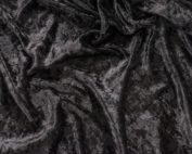 Black Velvet Table Cloth, Black Crushed Velvet