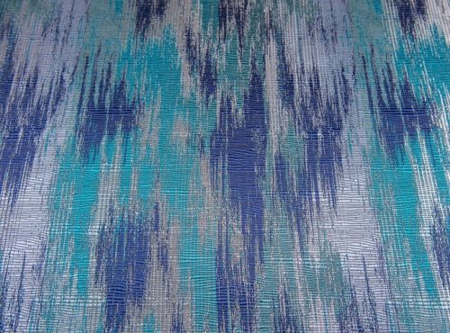 Blue Abstract Table Linen, Blue Pattern Table Cloth, Shades of Blue Table Linen