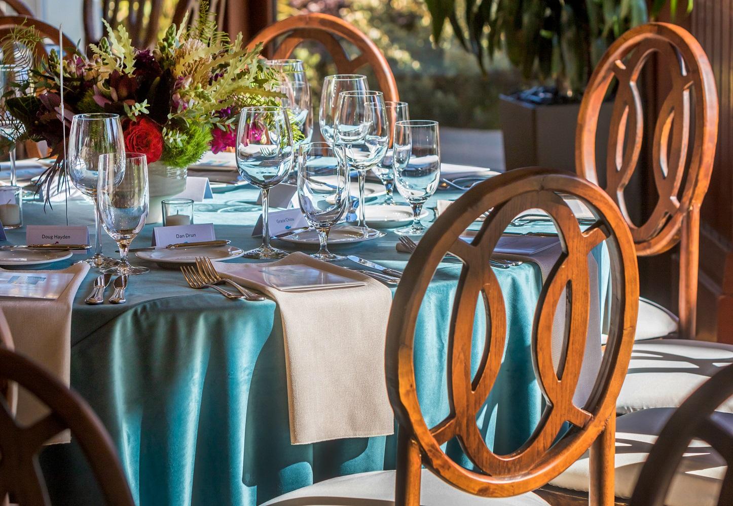 Ocean Blue Plush Velvet Table Linen, Blue Velvet Table Cloth, Teal Velvet Table Linen