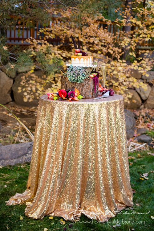 Gold Sequin Table Runner, Gold Sequin Table Cloth