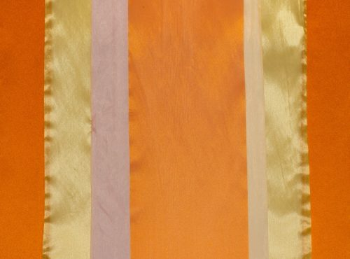 Harvest Table Runner, Orange and Gold Sheer Stripe