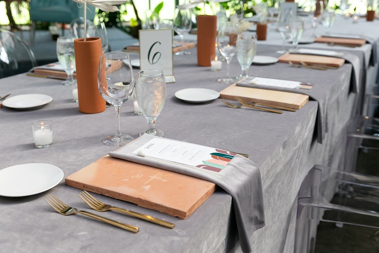 Dove Grey Plush Velvet Table Linen, Grey Velvet Table Cloth