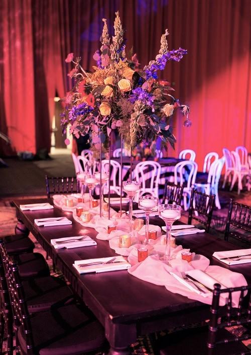Champagne Voile Table Veil, Tan Sheer Table Runner