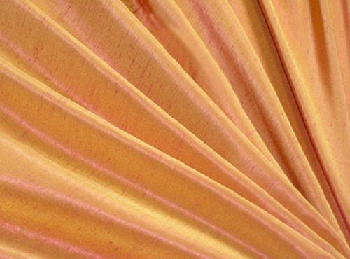 Papaya Dupioni Table Linen, Light Orange Table Cloth