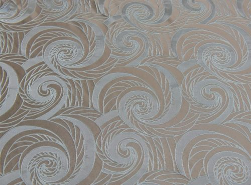 Seamist Nautilus Table Linen, Silver Swirl Table Cloth, Blue Swirl Table Cloth