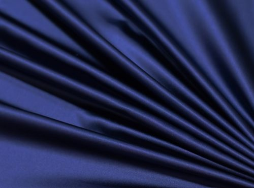 Storm Navy Lamour Table Linen, Dark Blue Satin Table Cloth