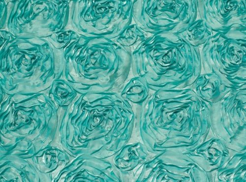 Tiffany Blue Rosette Table Linen