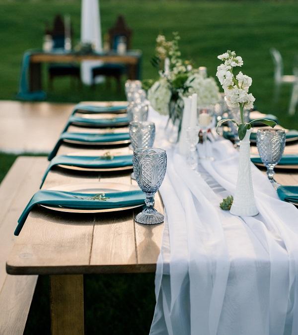 White Voile Table Veil, White Sheer Runner