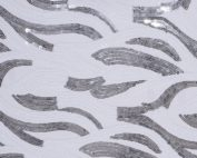 White & Silver Jazz Sequin Table Linen, White Sequin Table Cloth