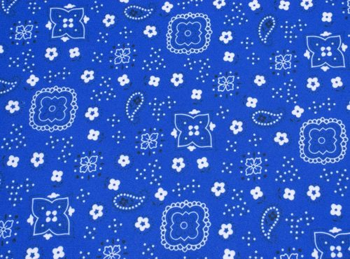 Blue Bandana Linen, Western Table Cloth