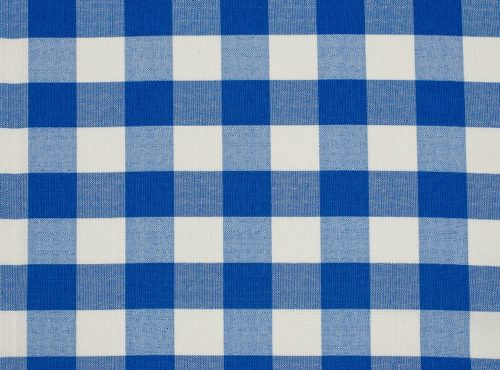 Blue Check Table Linen, Blue Gingham Table Linen