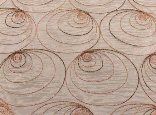 Blush Shimmer Swirl Table Linen