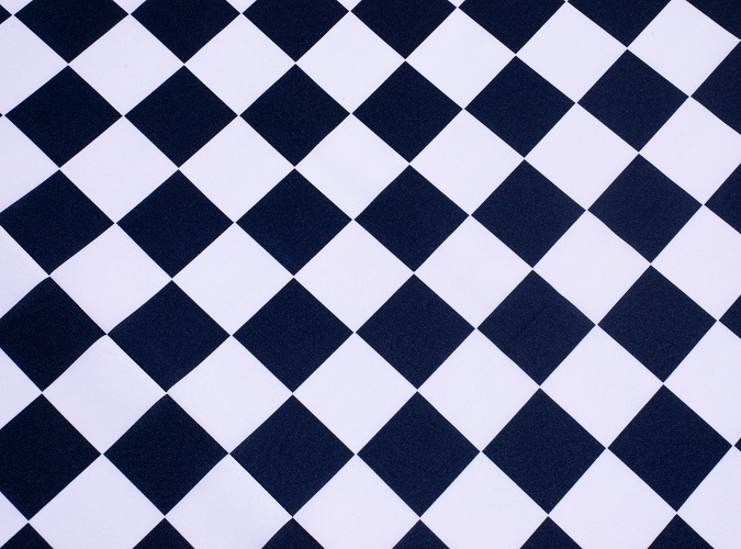 Finish Line Table Cloth, Black and White Check Linen, Racing Linen