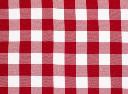 Red Check Table Linen, Red Gingham Table Cloth