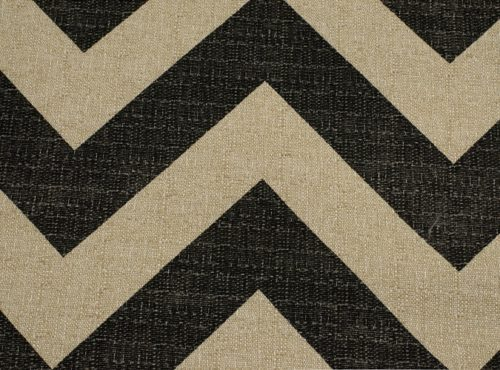 Rustic Black & Tan Chevron Table Linen
