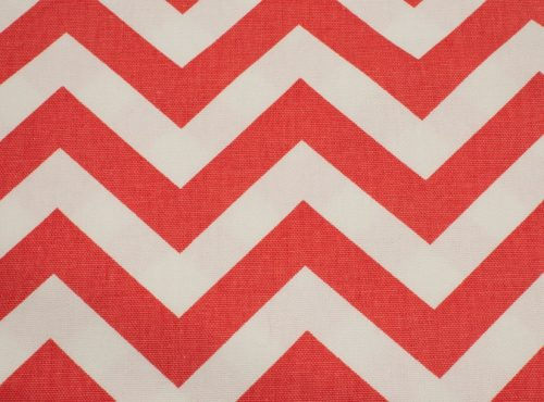 Rustic Coral & White Chevron Table Linen