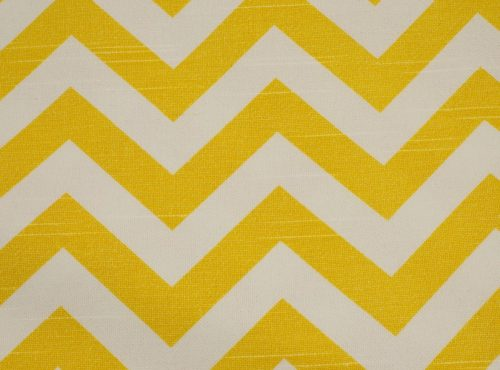 Rustic Lemon Chevron Table Linen