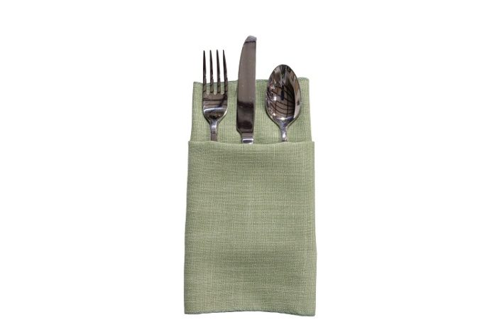 Sage Linnea Napkin, Green Linen Napkin