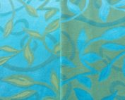Seabreeze Table Linen, Blue and Green Table Cloth, Blue Leaf Table Cloth