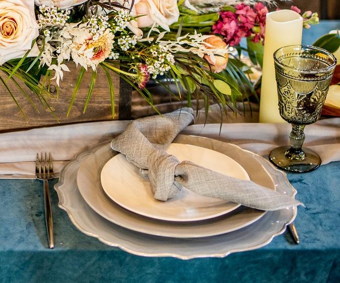 Shadow Linnea Napkin, Grey Natural Linen Table Cloth