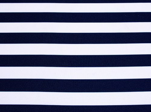 Navy Stripe Table Linen
