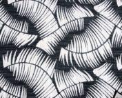 Noir Havana Table Linen, Black White Leaf Table Cloth