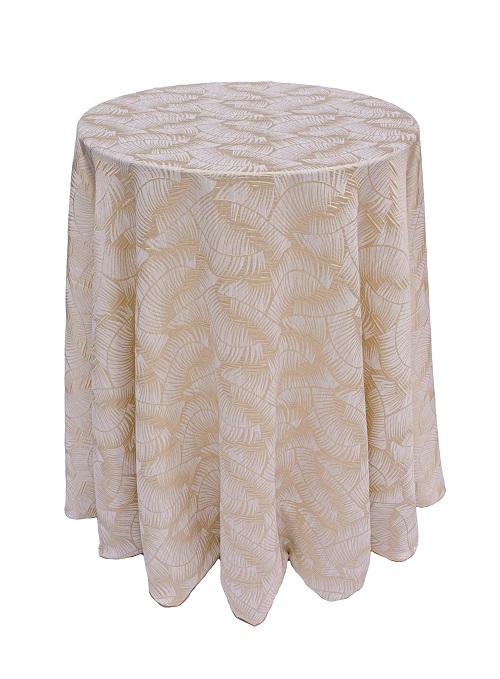 Colada Havana Table Linen, Tan Leaf Table Cloth